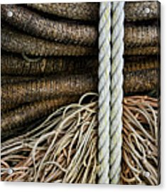 Ropes And Fishing Nets Acrylic Print by Carol Leigh