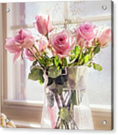 Roses In The Kitchen Acrylic Print by Rima Biswas