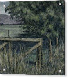 Rural Fence Acrylic Print by David King