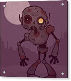 Rusty Zombie Robot Acrylic Print