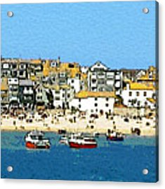 Sea And Sky Acrylic Print by Julian Perry