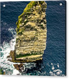 Sea Stack Cliffs Of Moher, Northern Ireland Acrylic Print by Claudia Abbott