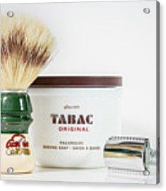 Shaving Set Acrylic Print by Gary Gillette