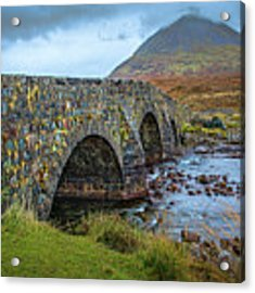 Sligachan Bridge View #h4 Acrylic Print by Leif Sohlman