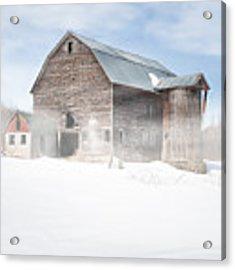 Snowy Winter Barn Acrylic Print by Gary Heller