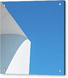 Soft Blue Acrylic Print by Eric Lake