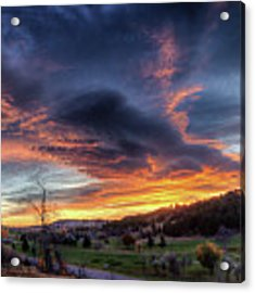 Spearfish Canyon Golf Club Sunrise Acrylic Print by Fiskr Larsen