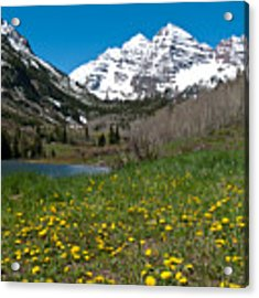 Spring At The Maroon Bells Acrylic Print by Cascade Colors