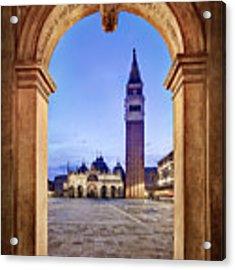 St Mark's Square Arch - Venice Acrylic Print by Barry O Carroll