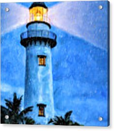 Lights On For You At St. Simons Acrylic Print by Mark Tisdale