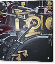 Steam Tractor Acrylic Print by Richard Le Page