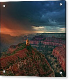 Storm Clouds North Rim Grand Canyon Arizona Acrylic Print by Dave Welling