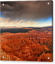Storm Coming To Bryce National Park Acrylic Print by Raymond Salani III