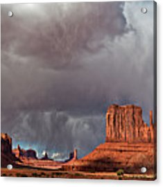 Storm Over Monument Valley Acrylic Print by Wesley Aston