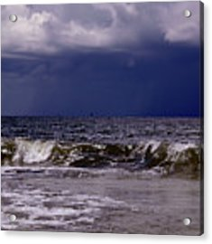 Stormy Beach Acrylic Print by Carolyn Marshall