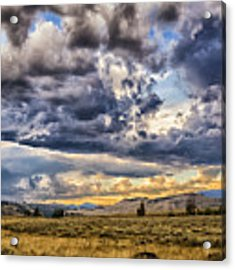 Stormy Sunset At Blacktail Plateau Acrylic Print by Sophie Doell
