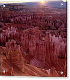 Sunrise Over The Hoodoos Bryce Canyon National Park Acrylic Print by Dave Welling