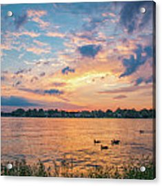 Sunset At Morse Lake Acrylic Print by Sophie Doell