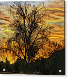 Sunset In Perris Acrylic Print by Rhonda Strickland
