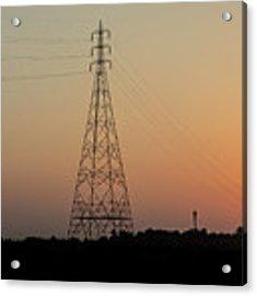 Sunset Pylons Acrylic Print by Chris Cousins