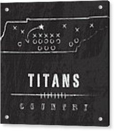Tennessee Titans Art - Nfl Football Wall Print Acrylic Print