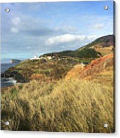 Terceira Island, Ilheus De Cabras And Lighthouse Of Ponta Das Contendas Acrylic Print by Kelly Hazel