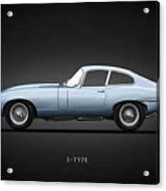 The 65 E-type Coupe Acrylic Print
