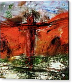 The Crucifixion #1 Acrylic Print by Michael Lucarelli