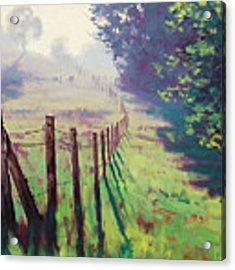 The Fence Line Acrylic Print