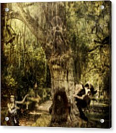 The Old Goat Tree Acrylic Print by Rhonda Strickland