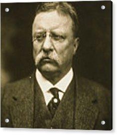 Theodore Roosevelt Acrylic Print by Artistic Panda
