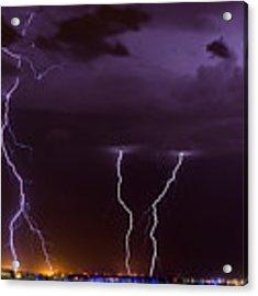 Thunderbolts Acrylic Print by Brad Brizek