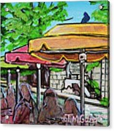 Umbrellas Acrylic Print by TM Gand