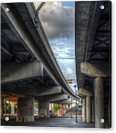 Under The Overpass II Acrylic Print by Break The Silhouette