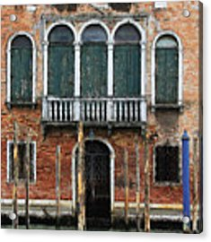 Venice Old Palace Acrylic Print by Julian Perry