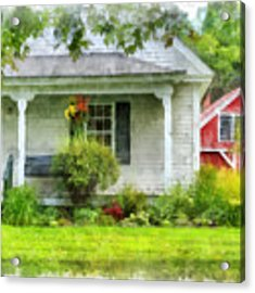 Vermont Farm House Kent Corner Watercolor Acrylic Print by Edward Fielding