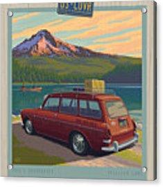 Vintage Squareback At Trillium Lake Acrylic Print