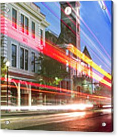 Washington County Courthouse At Night Fayetteville Arkansas Acrylic Print by Gregory Ballos