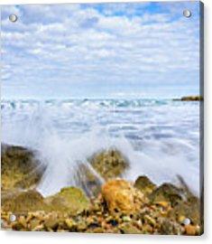 Wave Splash Acrylic Print by Gary Gillette