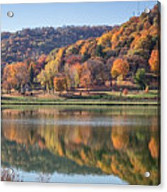 West Lake Winona With Woodlawn 2x3 Acrylic Print by Kari Yearous