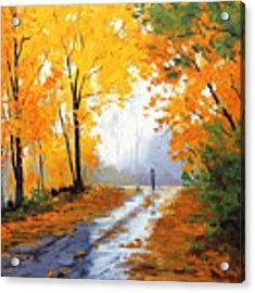 Wet Autumn Morning Acrylic Print