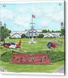 Whiting Field Welcome Sign Acrylic Print by Betsy Hackett