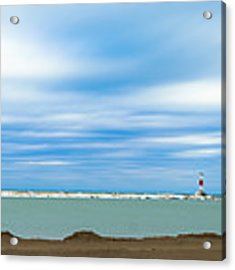 Wisconsin Winter Lakefront Acrylic Print by Steven Santamour