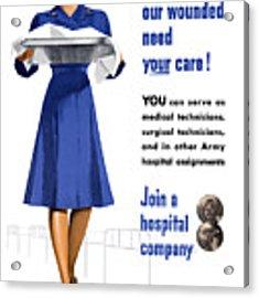 Women's Army Corps - Ww2 Acrylic Print