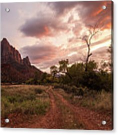 Zion Sunset Acrylic Print by Wesley Aston