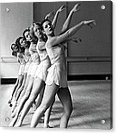 Dancers Ballerinas At George Balanchin Acrylic Print by Alfred Eisenstaedt