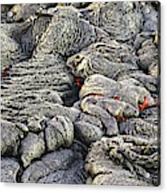 Lava Peeking At Us Acrylic Print by Jim Thompson