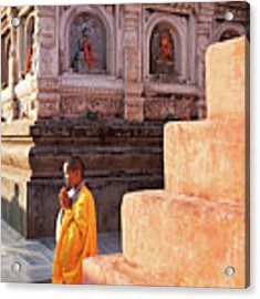 Mahabodhi Acrylic Print by Marji Lang