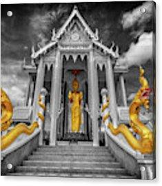 Pranburi Temple Acrylic Print by Adrian Evans