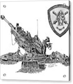 10th Marines 777 Acrylic Print by Betsy Hackett